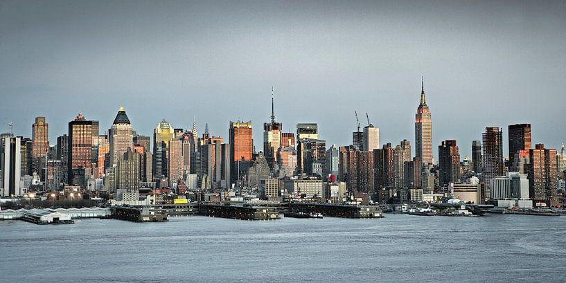 New York, Skyline von Midtown Manhattan von Frans Lemmens
