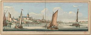 Gezicht op Nijmegen vanuit het oosten, Jan Ruyter