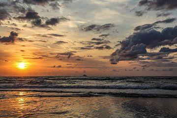 Untergehende Sonne von Arie  van Duijn