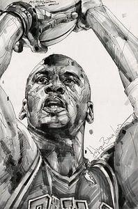 Michael Jordan, Chicago Bulls Zeichnung/Kunst