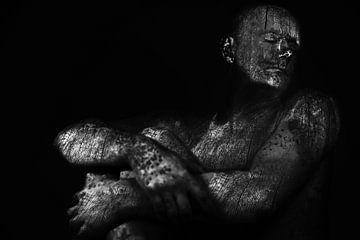 Statue bois sur Cor Heijnen