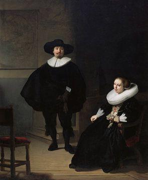 Eine Dame und ein Herr in Schwarz, Rembrandt - 1633