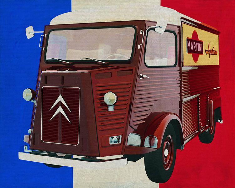 Citroen H-Type met Franse vlag van Jan Keteleer