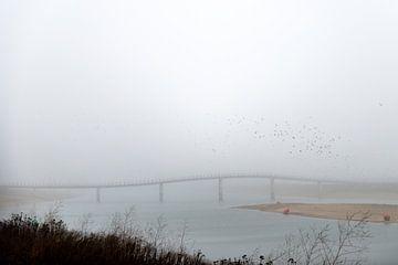 Zaligebrug in de mist von Maerten Prins