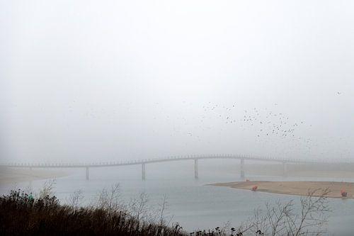 Zaligebrug in de mist