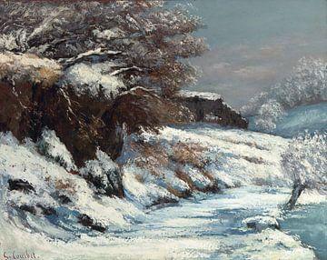 Wirkung von Schnee, Gustave Courbet, 1868 von Atelier Liesjes