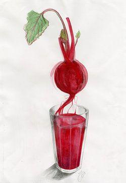 Beetroot Juice Food Illustration van Pünktchenpünktchen Kommastrich
