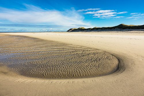 Beach on the North Sea coast on the island Amrum