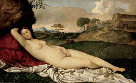 Giorgione.  Slapende Venus