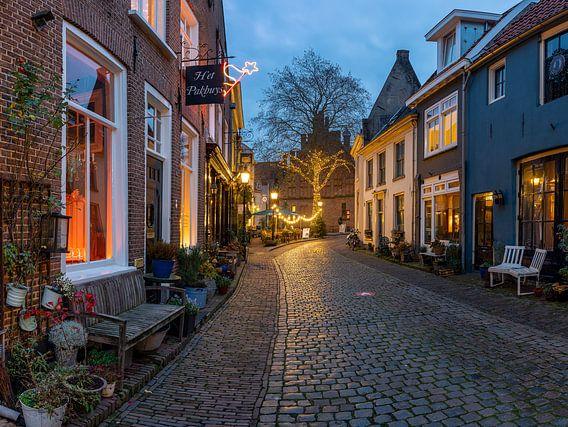 Avondfoto historische stad Doesburg