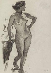 Weiblicher Akt, stehend, LUDWIG VON HOFMANN, ca. 1890-1910