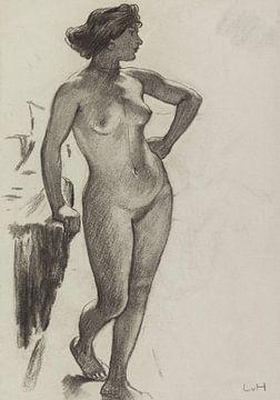 Stehender weiblicher Akt, LUDWIG VON HOFMANN, Ca. 1890-1910 von Atelier Liesjes