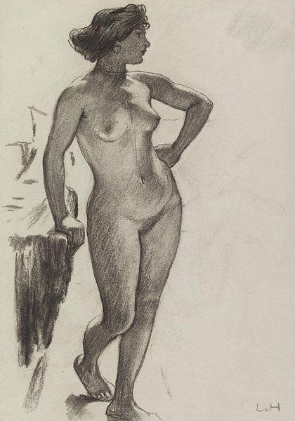 Weiblicher Akt, stehend, LUDWIG VON HOFMANN, ca. 1890-1910 von Atelier Liesjes