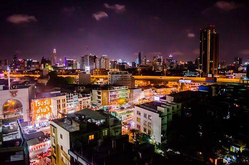 Uitzicht op Bangkok in de nacht