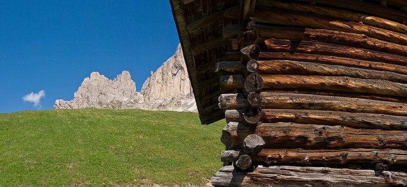 Berghut, Dolomiten van Rene van der Meer