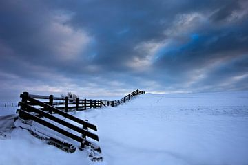 Winter in Stavoren Friesland van Peter Bolman