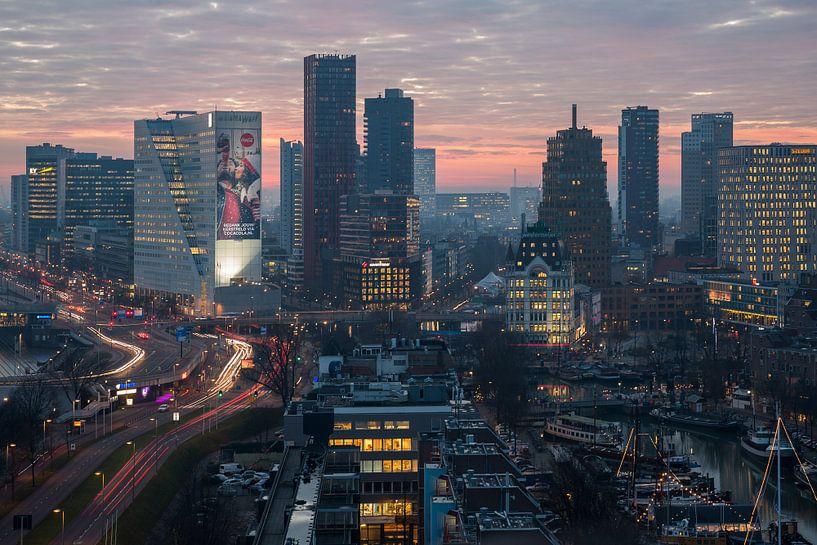 Het uitzicht op de Oude Haven in Rotterdam van MS Fotografie   Marc van der Stelt