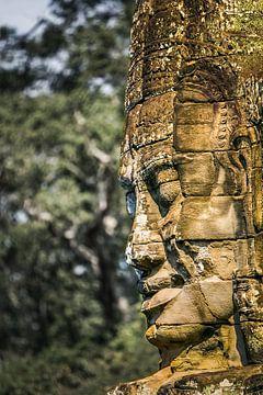 Bayon Tempel,  Angkor, Cambodja van Henk Meijer Photography