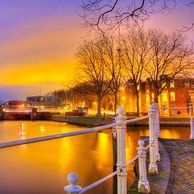 Zonsondergang in Delft van Dexter Reijsmeijer