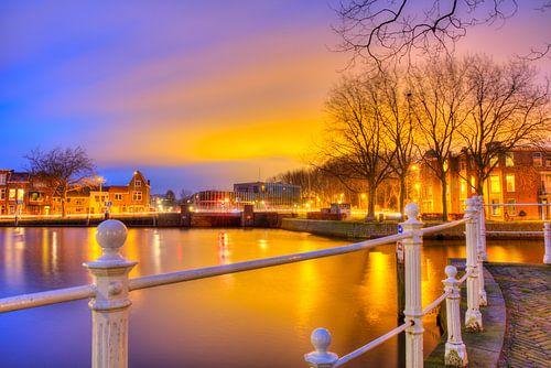 Zonsondergang in Delft