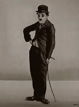 Charlie Chaplin Painting sur Paul Meijering