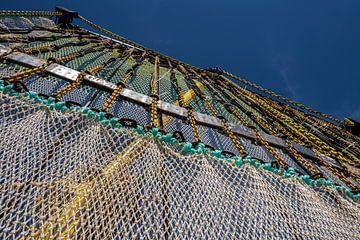 Fischnetz am Ausleger