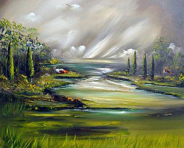 Landschaft van Gena Theheartofart