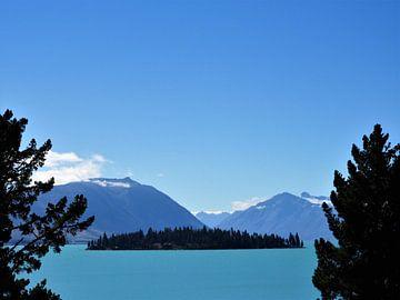 De uitzonderlijk blauwe kleuren van Lake Tekapo, Nieuw-Zeeland von J V