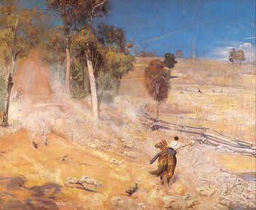 Tom Roberts, Een ontsnapping! - 1891 van Atelier Liesjes