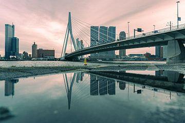 Erasmusbrug & de reflectie van Inge van der Hart Fotografie