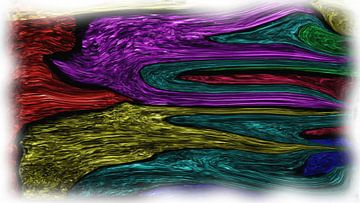 Abstract wervelingen van Maurice Dawson