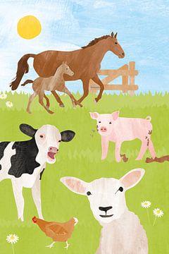 Animaux de ferme sur Karin van der Vegt