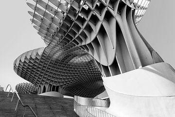 SEVILLE, SPANJE. Metropol Parasol Parasolgebouw in Sevilla, Spanje van Tjeerd Kruse