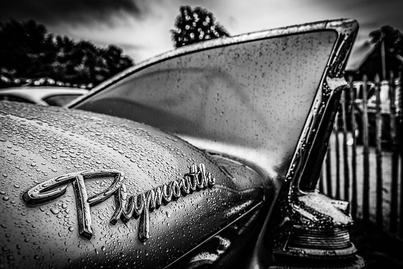 Plymouth vleugel na regen van autofotografie nederland