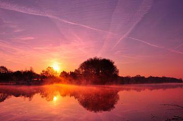 Oude IJssel Achterhoek Sonnenaufgang von Arno Wolsink