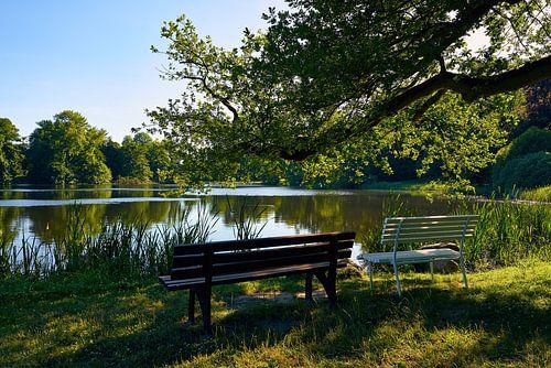 Kasteelpark Putbus op het eiland Rügen van