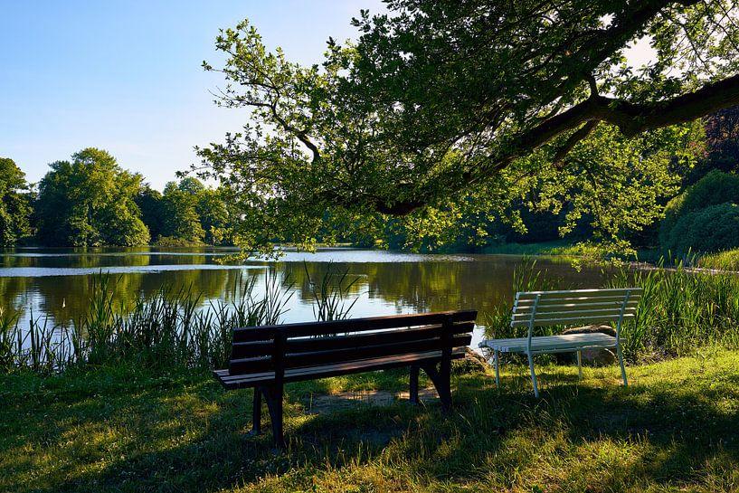 Kasteelpark Putbus op het eiland Rügen van Reiner Würz / RWFotoArt
