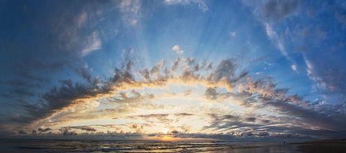 schitterende zonsondergang in Frankrijk van