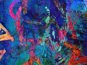 Modern, Abstract kunstwerk - Sleeping At The Wheel