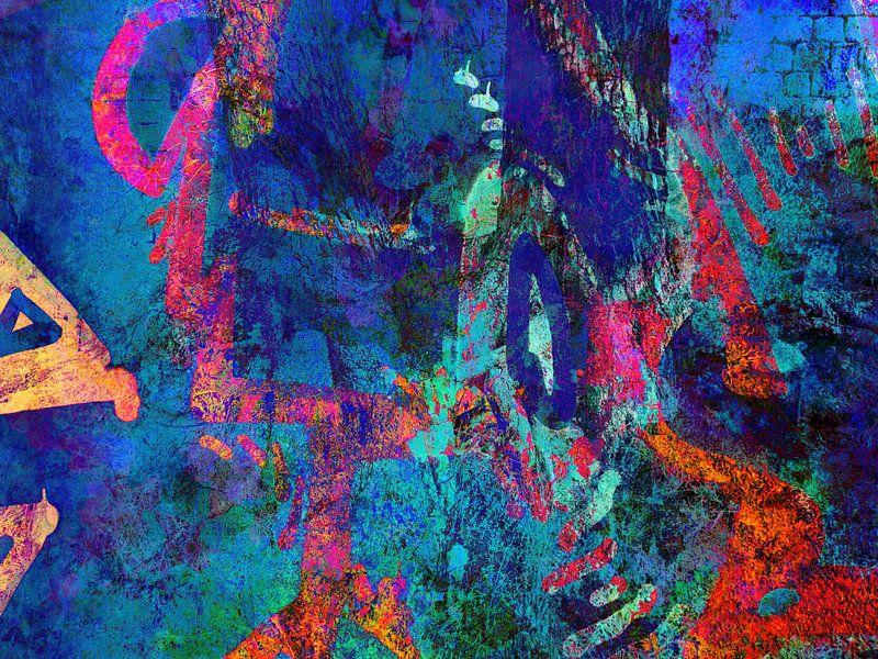Modern, Abstract kunstwerk - Sleeping At The Wheel van Art  By Dominic