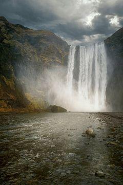 Wasserfall Skogafoss von Peter Poppe