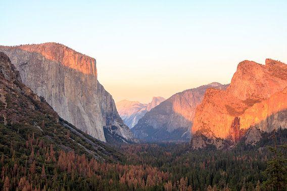 Tunnelview in de herfst in Yosemite
