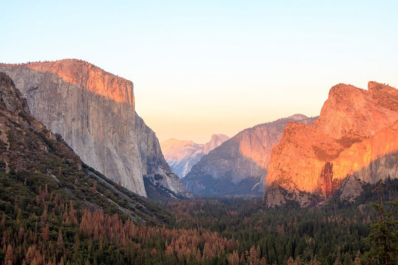 Tunnelview in de herfst in Yosemite van Gerben Tiemens