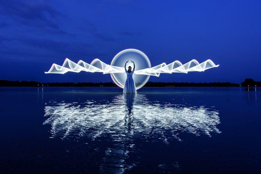lightpainting - engel van Marjolein Hermans