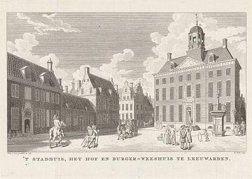 Rathaus in Leeuwarden, Abraham Jacobsz. Hulk, 1785.