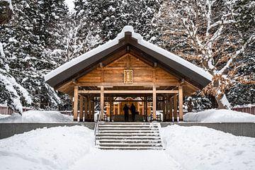 Altaar in Sapporo in de sneeuw van Mickéle Godderis