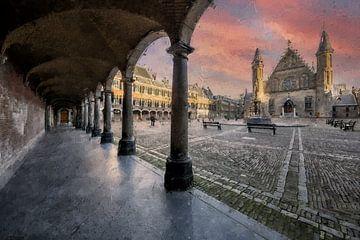 Binnenhof Den Haag van Digitale Schilderijen