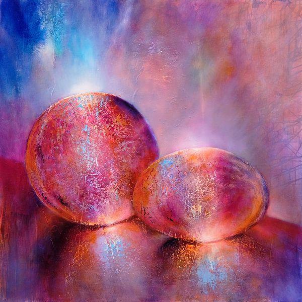 Twee knikkers, roze van Annette Schmucker