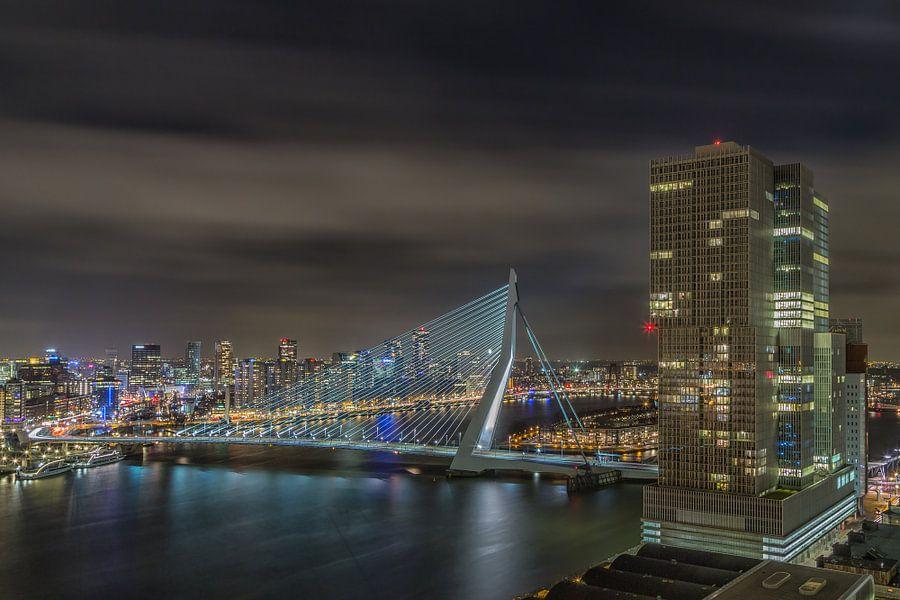 Manhattan @ the Maas - Rotterdam Skyline van Tux Photography