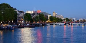 Amstel in Amsterdam met Magere Brug, panorama